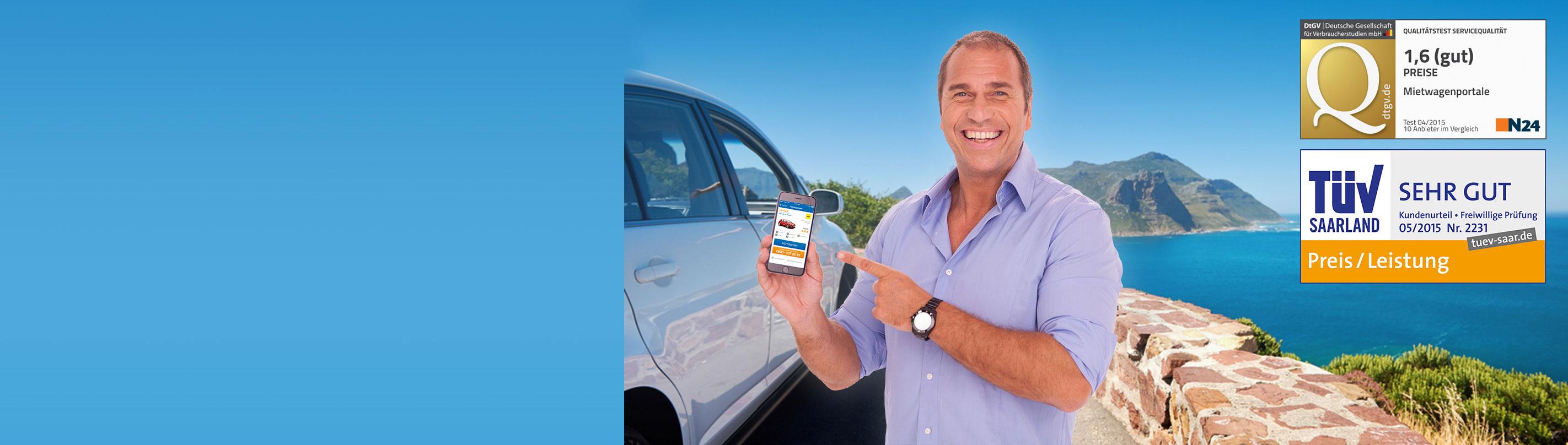 Mietwagen und Autovermietung im Preisvergleich